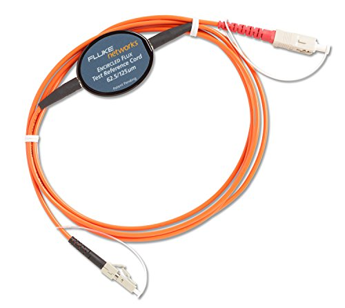 Fluke Networks MRC-625-EFC-SCLC Multimode Encircled Flux Compliant Test Reference Cord for Testing 62.5µm LC Terminated Fibers