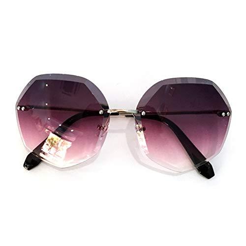 personnalité Sunglasses Polygonal de Sunscreen Frameless de soleil Vintage Summer femme Lunettes NIFG gIqaPx6nw