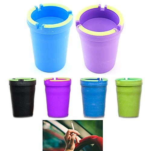 2 X Jumbo Butt Bucket Ashtray Glow in Dark Cigarette Car Cup Ash Holder Portable