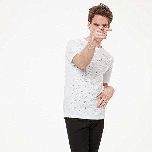 ThokkThokk Meadow T-Shirt white aus 100% Biobaumwolle hergestellt // GOTS und Fairtrade zertifiziert