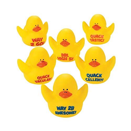 Fun Express 12 Motivational Rubber Ducks Toy