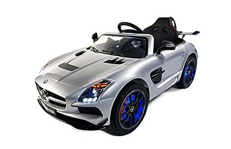 Babycoches - Coche eléctrico para niños Mercedes Benz SLS, con LICENCIA OFICIAL, con mando