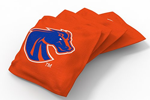 Wild Sports NCAA College Boise State Broncos Orange Authentic Cornhole Bean Bag Set (4 Pack)