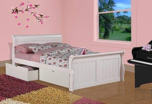 amazon com donco kids 325 fw 505 w sleigh bed with dual underbed rh amazon com