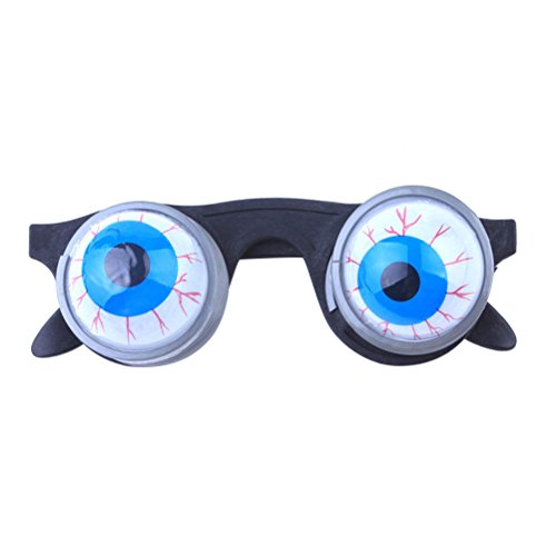 Tinksky Funny Disguise Glasses Goo Goo Eye Glasses Spring Eyeball Glasses for Halloween Costume (Bloodshot Eyeball Costume)