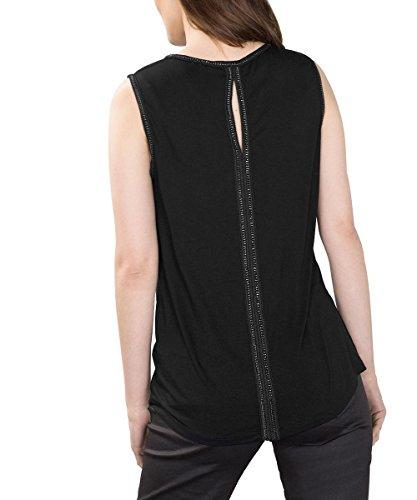 ESPRIT, Camiseta sin Mangas para Mujer Negro (black 001)