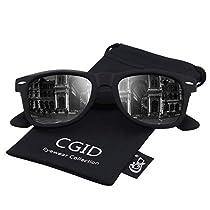 CGID Classic Polarized Sunglasses 80s Retro Horn Rimmed Unisex Men Women