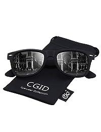 CGID Classic Polarized Sunglasses 80's Retro Horn Rimmed Unisex Men Women