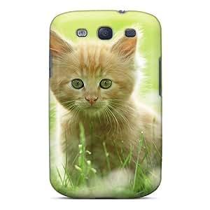 Galaxy S3 Case Cover Skin : Premium High Quality Cute Kitten Case