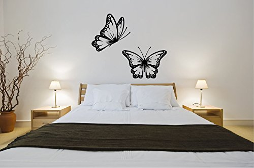 Polka Dot Butterflies Vinyl Wall Words Decal Sticker ()