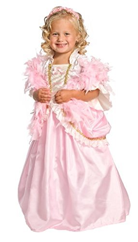Costumes Parisian Girl (PARISIAN PRINCESS Dress Halloween Costume Girls, L Ages 5-7, Boa and)