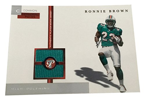 2005 Topps Pristine Personal Pieces Common #PPC-RB Ronnie Brown Jersey Card