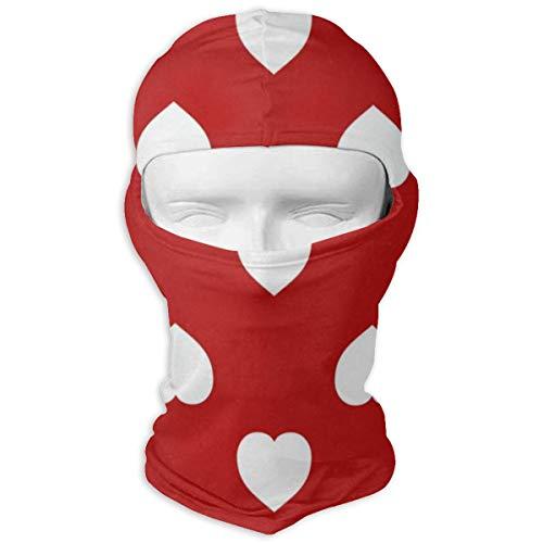 Balaclava Romantic Hearts Full Face Masks UV Protection Ski Hat Womens Snowboard for Hiking
