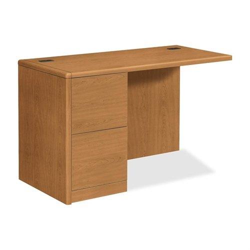 HON Left Return File Pedestal Desk, 48 by 24 by 29-1/2-Inch, Harvest