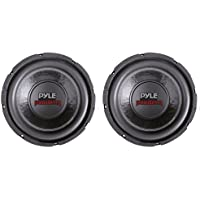 2) PYLE PLPW6D 6 1200W Dual Voice Coil 4-Ohm Black Car Stereo Audio Subwoofers