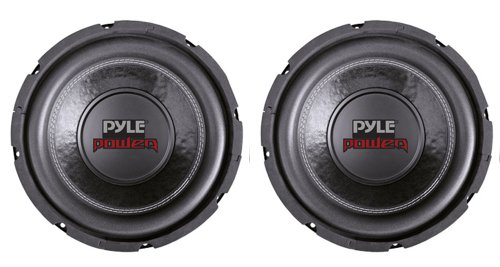 2) PYLE PLPW6D 6″ 1200W Dual Voice Coil 4-Ohm Black Car Stereo Audio Subwoofers