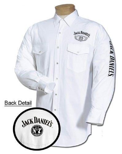 Jack Daniels Men's Daniel's Logo Rodeo Cowboy Shirt White X-Large Jack Daniels Cowboy Hats