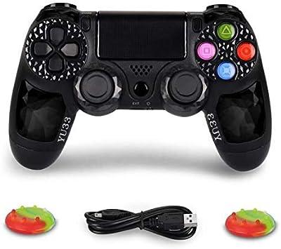 Controlador inalámbrico, joysticks, Mando a Distancia de Juego para Playstaion 4, Bluetooth DS4 Gamepad, Compatible con Playstation 4, Pro/Slim PS4, PC, PS TV, Smart TV Black Diamond: Amazon.es: Electrónica