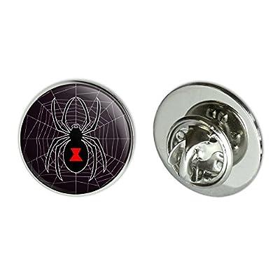 "Black Widow Spider on Web Metal 0.75"" Lapel Hat Pin Tie Tack Pinback on sale"