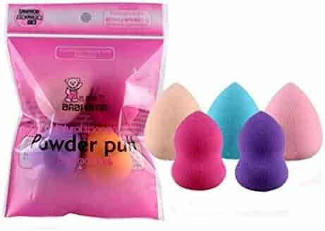 Franterd 5PCS Pro Beauty Flawless Makeup Foundation Puff Multi Shape Sponges Blender