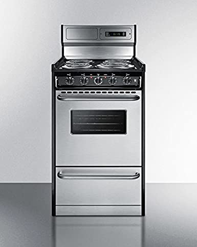 Amazon.com: Summit TEM130BKWY Kitchen Cooking Range, Stainless Steel ...