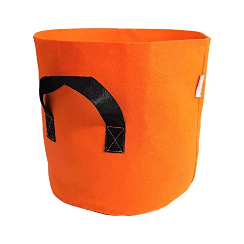 Gal Grow Bag - Bootstrap Farmer Grow Bags 7 Gallon, Orange 10 Pack, Colored Fabric Pot for Peppers, Potatoes, Tomatoes and Plants