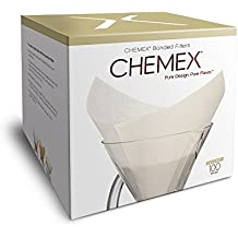 Chemex Bonded Oxygen Cleansed Pre-folded Square Coffee Filters, Set of 200