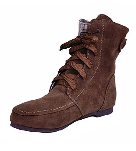 Calentar Lazada de Martin o Oto Zapatos Nieve Invierno Marr Planos Botas para Chic Minetom Mujer Botas Botines xI4q7d