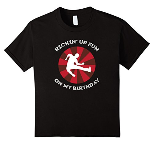 - Kids Martial Arts Tae Kwon Do Karate Birthday Party Shirt 6 Black