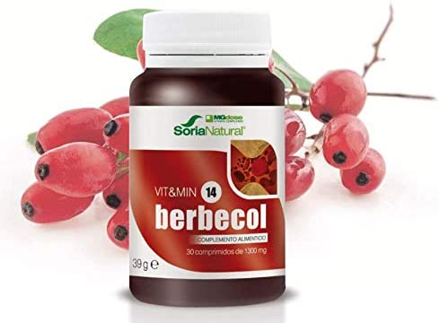 Soria Natural - Berbecol Vit&min 14 - Complemento dietético - 30 comprimidos - Berberina y Levadura de Arroz Rojo: Amazon.es: Salud y cuidado personal