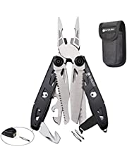 Multitool Pliers,18-in-1 Multi-Purpose Pocket Knife Pliers Kit, Durable Stainless Steel Multi-Plier Multi-Tool for Survival, Camping, Hunting, Fishing and Hiking