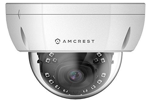 Amcrest ProHD Outdoor 1080P PoE Vandal Dome IP Security Camera – IP67 Weatherproof, 2MP (1920 TVL), IP2M-851EW (White)