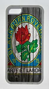 Iphone 5C Cover Blackburn Rovers Logo, DIY Transparent Edges Skin TPU Protected Case of Cecilydreaming