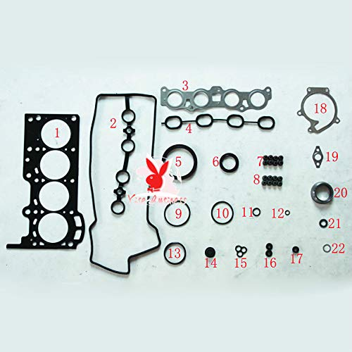 yise-P026 New For DAIHATSU TERIOS K3-VE K3 K3-VE2 Car Spare Parts Overhaul Package Complete Engine seal Gasket Set 04111-97403-000 50231000 ()