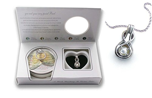 Freshwater Cultured Infinity Necklace Stainless