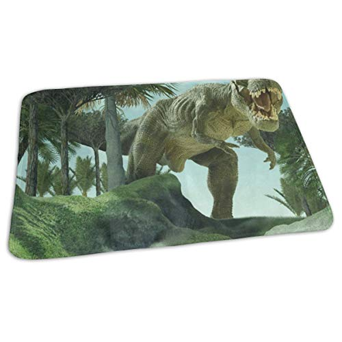 Protector Mattress Platinum Free (Changing Pad Giant Dinosaur Baby Diaper Incontinence Pad Mat Customized Girls Mattress Sheet Protector Sheet for Any Places for Home Travel Bed Play Stroller Crib Car)