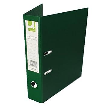 Q-CONNECT tamaño folio polipropileno archivadores de palanca con anillas verde: Amazon.es: Oficina y papelería