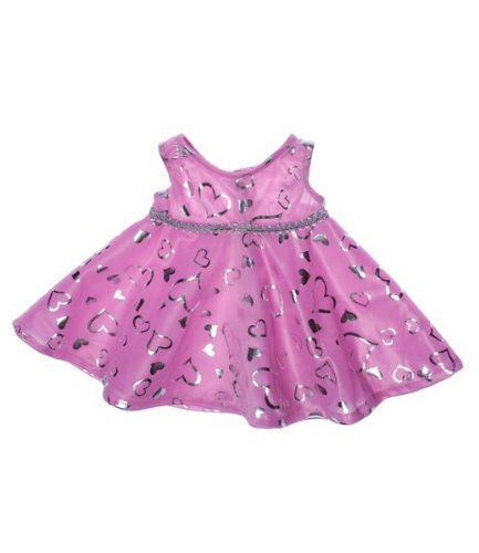 "Pink & Silver Dress Teddy Bear Clothes Outfit Fits Most 14"" - 18"" Build-a-bear, Vermont Teddy Bears, and Make Your Own Stuffed Animals Teddy Mountain"