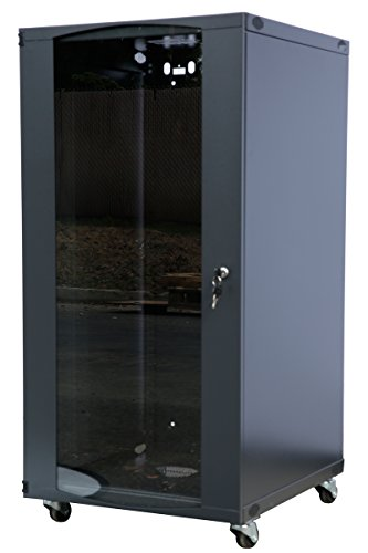 15U 18U 22U Wall Mount Network Server Cabinet Rack Enclosure Meshed Door Lock 600mm Deep (15U) ()