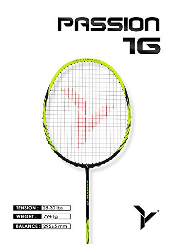 (YANG-YANG Professional Series Lightweight High Modulus Graphite Badminton Racket (Vital Material for Strength&Shock Absorption reducing Muscle Injury) w/Carrying Bag (Strung, Light:)
