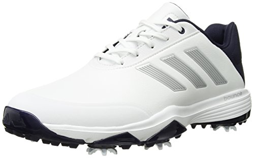 adidas Men's Adipower Bounce WD Golf Shoe FTWR White/Silver met./Noble Ink Fabric 7.5 Wide US