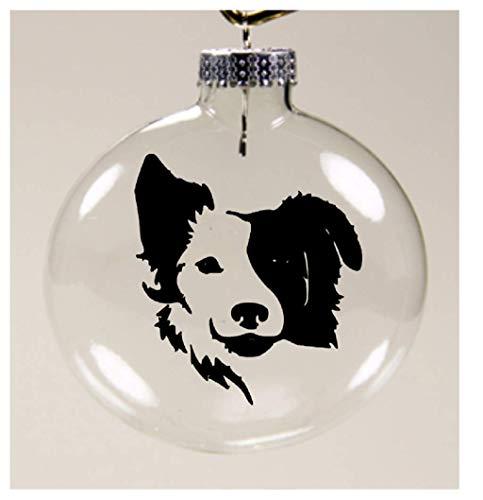 - Jenuine Crafts Border Collie Face Dog Lover Christmas Ornament