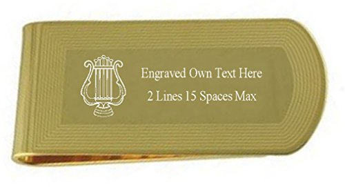 pouch Engraved Masonic Masonic with pouch Gold Money Clip Engraved Money Organist with Gold Clip Engraved Organist Organist Gold OnqApT4pz