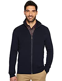 Men's Solid Rib Full Zip Sweater