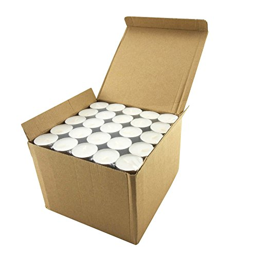 Stonebriar Long Burning Tealight Candles,  6 to 7 Hour Extended Burn Time, Bulk 200-Pack - Glass Tealite Holder