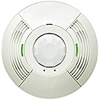 Lutron LOS-CDT-2000R-WH Occupancy Sensor Ceiling Mount Dual Tech 2000 Sq Ft W/ Relay White Gloss
