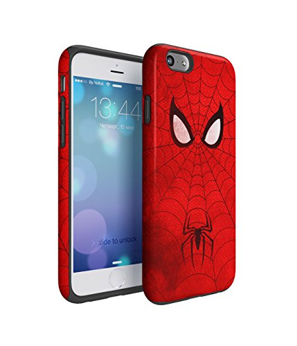 The Amazing Spiderman Grunge 2 Piece Hard Plastic + Shock Absorbing TPU Bumper Tough Case Cover Shell For iPhone 6 / 6s