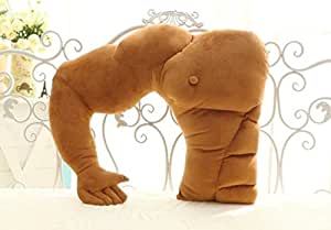 muscle man body arm plush cotton pillow 58cm 48cm home kitchen. Black Bedroom Furniture Sets. Home Design Ideas