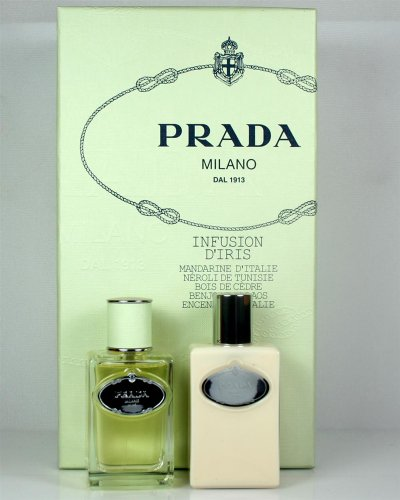 Prada Infusion D'Iris 2 Piece Perfume Set for Women by - Prada Diris Body Infusion Hydrating Lotion