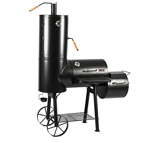 Mayer Barbecue RAUCHA Smoker MS-300 Pro Holzkohlegrill Räucherofen Smoker Grill, 2 Deckelthermometer, Massiv 49 kg…